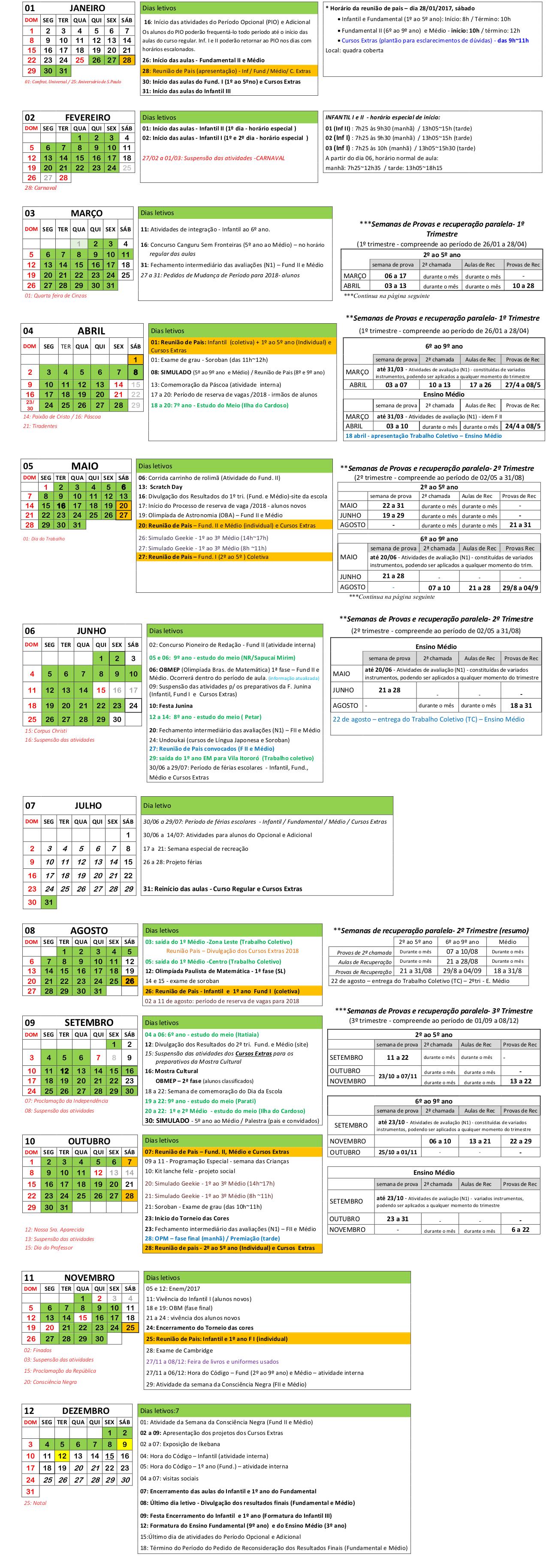 Calendario Atualizado 22-09