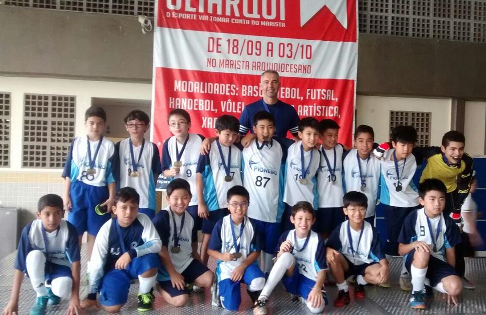 Equipe sub 11 de futsal masculino