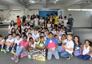 Ação social: Visita dos jovens do Centro Social Brooklyn Paulista