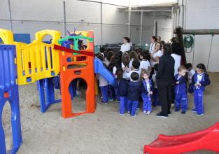 Educação Infantil ganha novos brinquedos e piquenique