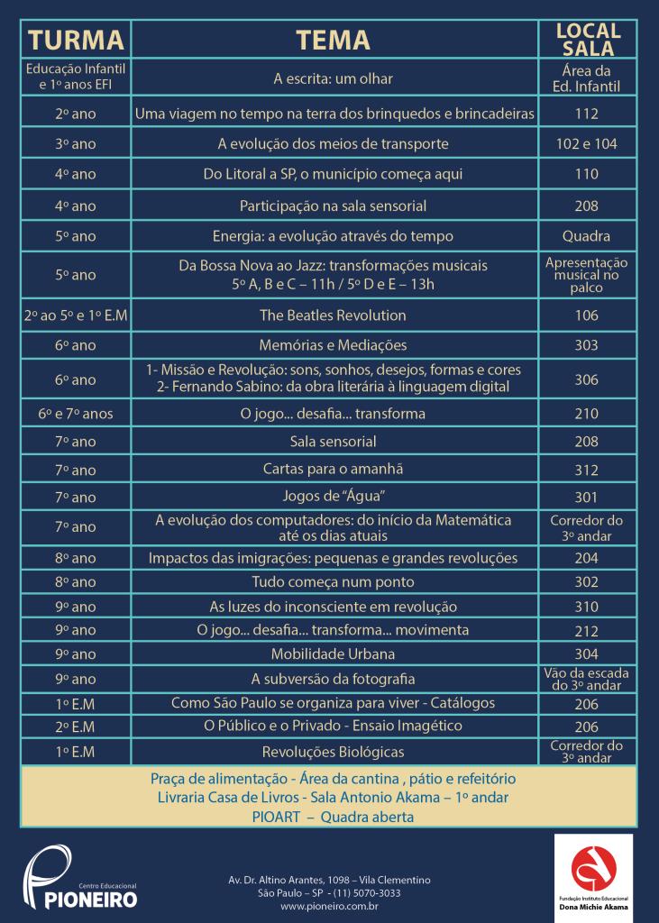Convite Mostra Cultural 20172